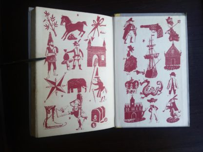 back paste down and dust jacket in a book from a childrens Junior Deluxe Editions book, Circa 40s -50s