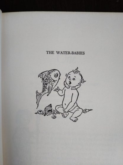 childrens Junior Deluxe Editions book, Circa 40s -50s, image on half title page of Water-Babies