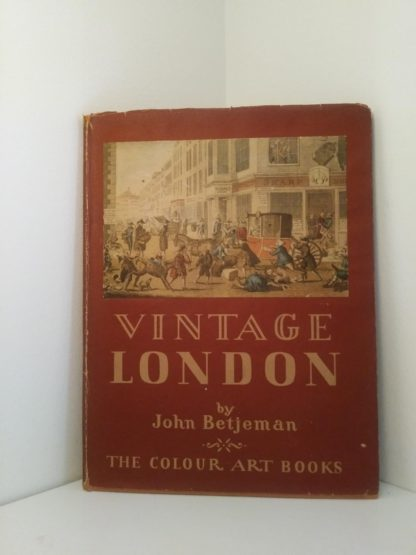 dust jacket cover of a 1942 first edition copy of Vintage of London by John Betjeman
