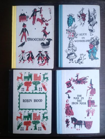front covers of some popular titles from childrens Junior Deluxe Editions Collection, Circa 40s -50s