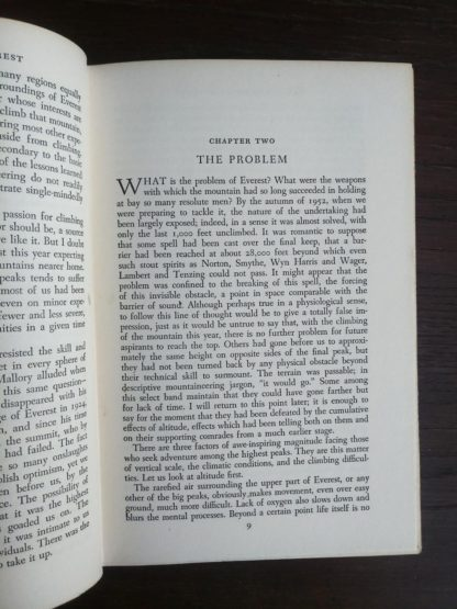 1954 First edition copy of The Conquest of Everest by Sir John Hunt Chapter 2