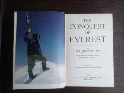 1954 First edition copy of The Conquest of Everest by Sir John Hunt Title Page