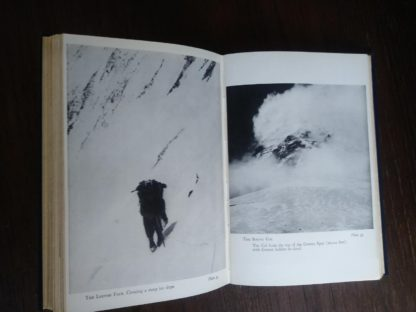 1954 First edition copy of The Conquest of Everest by Sir John Hunt photograph plate 34 and 35