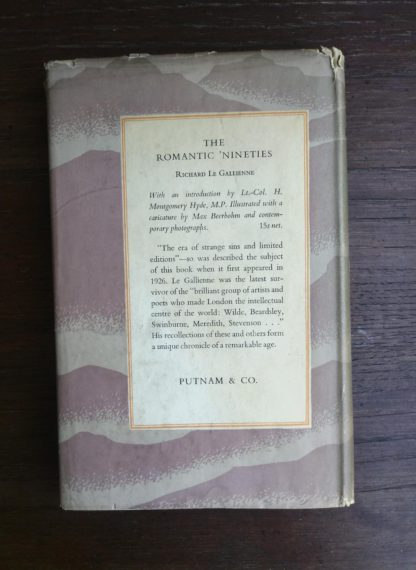 backside of a dust jacket on a 1951 First edition of Scotch -The Whiskey of Scotland in Fact and Story by Sir Robert Bruce Lockhart