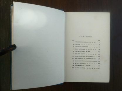 chapter content page in a 1904 copy of Auld Licht Idylls by James M. Barrie published by Henry T. Coates & Co.
