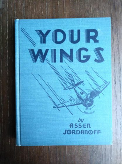 front cloth board on a 1939 copy of Your Wings by Assen Jordanoff