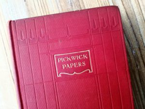 1906 PICKWICK PAPERS by Charles Dickens, Ward Lock & Co close up of blind stamp