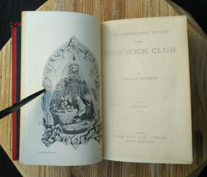 1906 PICKWICK PAPERS by Charles Dickens, Ward Lock & Co picture plate adjacent to title page
