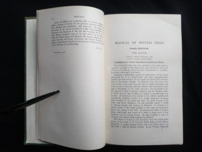 1927 Manual of British Birds 3rd edition Howard Saunders and W. Eagle Clarke page 2 of 2 of the Preface