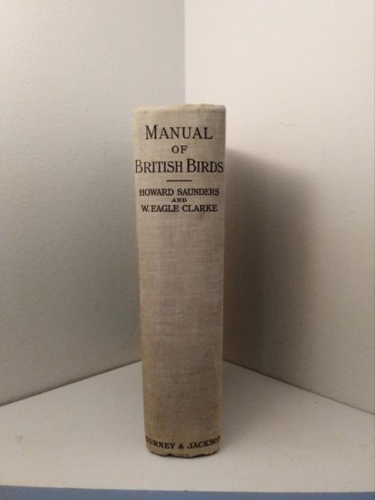 1927 Manual of British Birds 3rd edition Howard Saunders and W. Eagle Clarke spine view