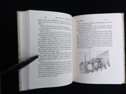 1954 copy of The Wind in the Willows illustrated by Ernest Shepard page 110 and 111
