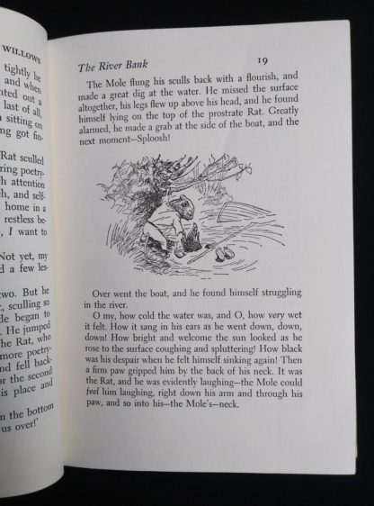 1954 copy of The Wind in the Willows illustration by Ernest Shepard on page 19