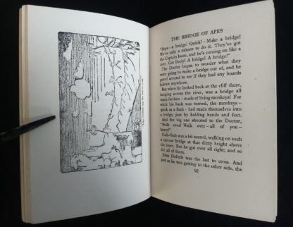 1962 copy of The Story of Doctor Dolittle by Hugh Lofting - The Bridge of the Apes illustration