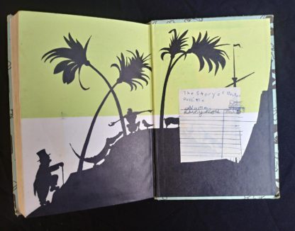 1962 copy of The Story of Doctor Dolittle by Hugh Lofting back pastedown and endpaper
