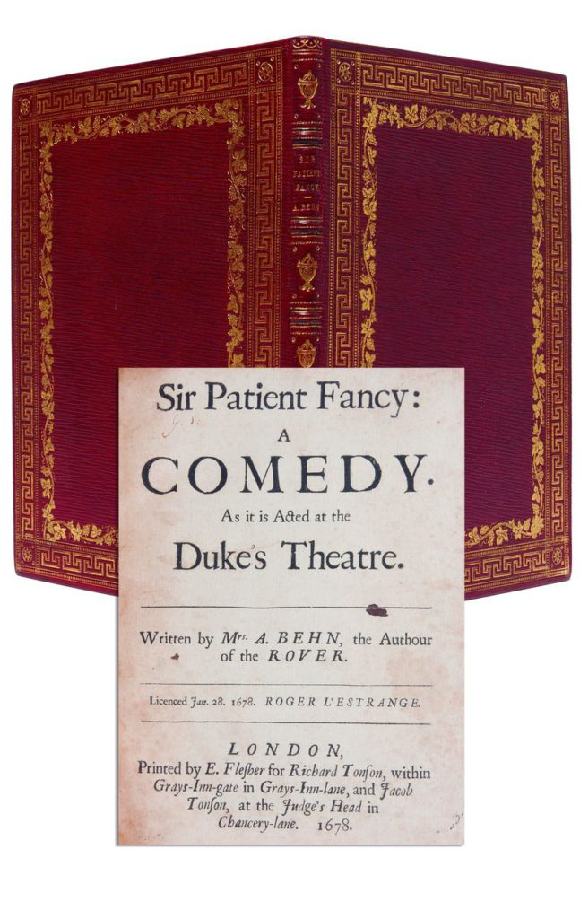 A 1678 first edition of Sir Patient Fancy A Comedy by Aphra Behn