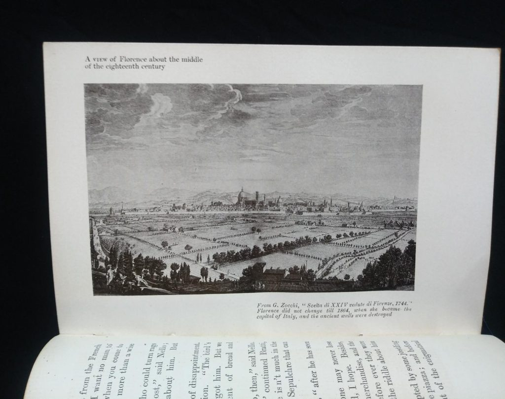 A view of Florence about the middle of the eighteenth century in a 1908 Leather bound RAMOLA by George Eliot published by McClurg & Co