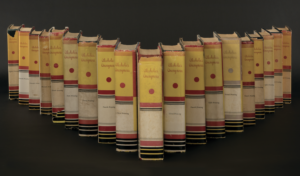 AA books containing all 16 first edition printings in various colors