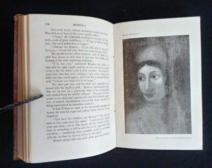 Agnolo Poliziano 1908 in a Leather bound RAMOLA by George Eliot published by McClurg & Co