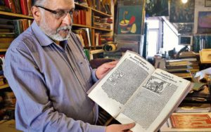 Rajiv Sud of Maria Brothers -one of the country's oldest antiquarian booksellers in Shimla
