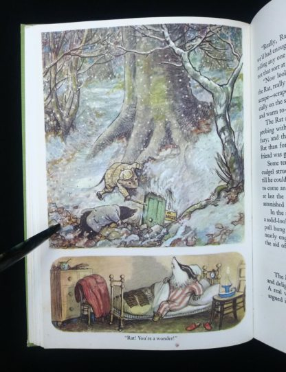 The Wind in the Willows 1961 Golden Anniversary Edition colour illustration by Ernest Shepard
