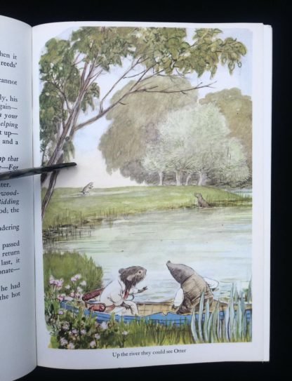 The Wind in the Willows 1961 Golden Anniversary Edition illustration of a scene at the river by Ernest Shepard