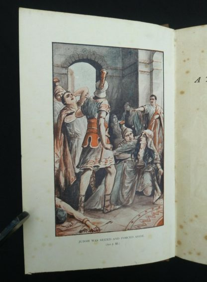 early undated printing of Ben Hur by Lew Wallace published by Charles H. Kelly color plate adjacent to the title page