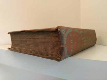 early undated printing of Ben Hur by Lew Wallace published by Charles H. Kelly headband view of spine