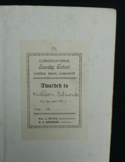 ephemera inside an early undated printing of Ben Hur by Lew Wallace published by Charles H. Kelly
