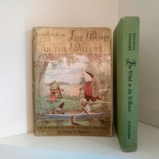front cover of dust jacket and spine view of The Wind in the Willows 1961 Golden Anniversary Edition