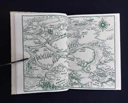 illustrated map in a 1954 copy of The Wind in the Willows illustrated by Ernest Shepard