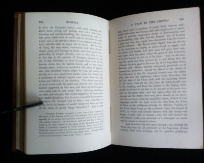 page 104 and 105 in a 1908 Leather bound RAMOLA by George Eliot published by McClurg & Co