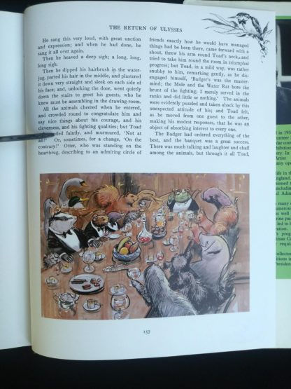 page 157 in a 1982 copy of The Wind in the Willows published by by Victoria House Publishing Limited