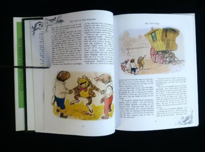 page 22 and 23 in a 1982 copy of The Wind in the Willows published by by Victoria House Publishing Limited