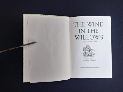 title page in a 1954 copy of The Wind in the Willows illustrated by Ernest Shepard