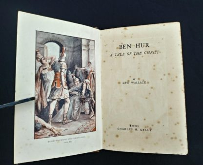 title page od an early undated printing of Ben Hur by Lew Wallace published by Charles H. Kelly