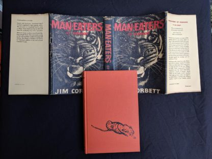 1946 First American Edition of MAN-EATERS of Kumaon by Jim Corbett full dustjacket and front cover