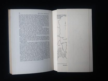 1956 first edition copy of Six decisive battles of the Second World War from the viewpoint of the vanquished - pull out map adjacent to page 70