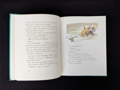 1965 copy of The Pooh Story Book stated 1st Canadian Edition page 22 and 23 with a colour illustration by Ernest Shepard