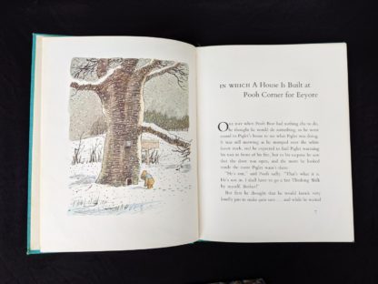 1965 copy of The Pooh Story Book stated 1st Canadian Edition page 6 and 7 with a colour illustration by Ernest Shepard