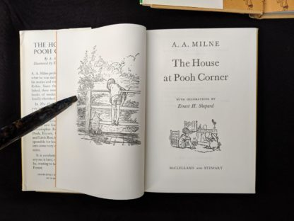 Title Page inside a copy of The House at Pooh Corner 1979 published in Canada by McClelland & Stewart