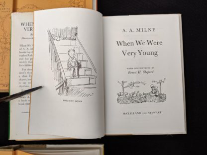 Title Page inside a copy of When We Are Very Young 1983 published in Canada by McClelland & Stewart