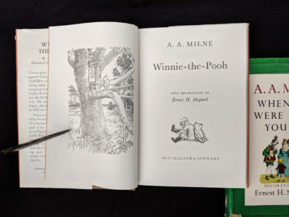 Title Page inside a copy of Winnie-the-Pooh 1979 published in Canada by McClelland & Stewart