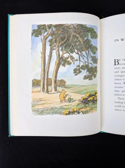 colour illustration by Ernest Shepard in a 1965 copy of The Pooh Story Book stated 1st Canadian Edition