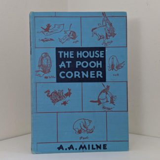 front cover of a 1950 copy of The House at Pooh Corner by A.A. Milne. First Reissue Edition