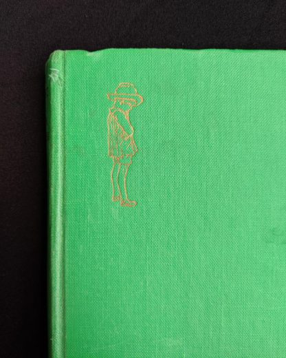 front cover up close on a 1963 copy of The House at Pooh Corner by A. A. Milne
