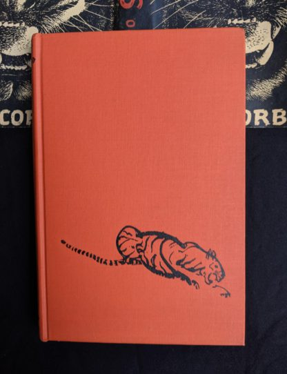 front cover without dustjacket on a 1946 First American Edition of MAN-EATERS of Kumaon by Jim Corbett