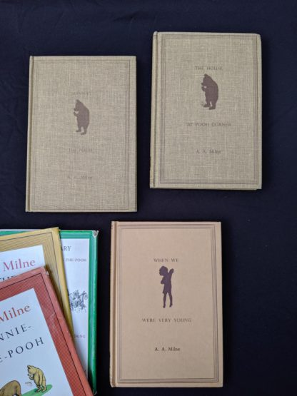 front covers of a Set of 3 Winnie-the-Pooh A. A. Milne books 1979 - 83