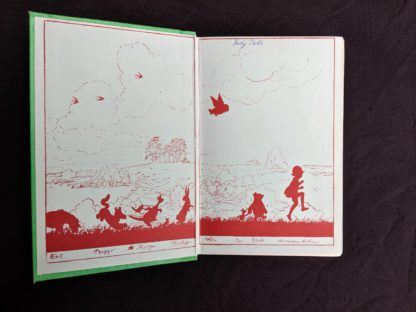 front pastedown and endpaper in a 1963 copy The House at Pooh Corner by A. A. Milne