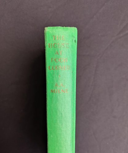 head of spine on a 1963 copy The House at Pooh Corner by A. A. Milne