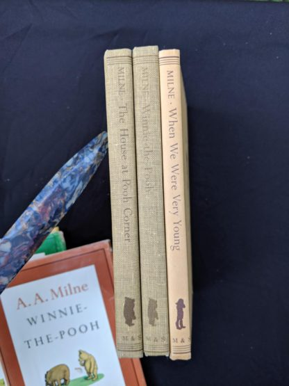 spine view of a Set of 3 Winnie-the-Pooh A. A. Milne books 1979 - 83